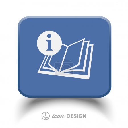 Pictograph of book vector icon...