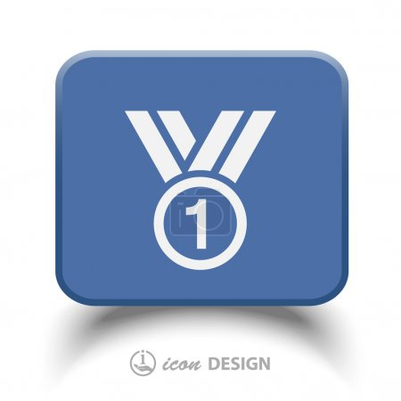 Pictograph of award  icon