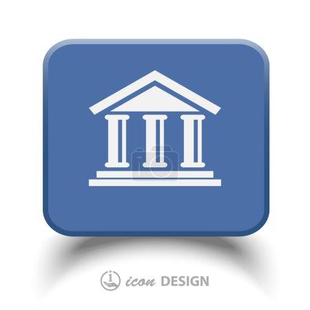 Illustration pour Pictogramme de l'icône de banque illustration - image libre de droit
