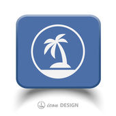 Pictograph of island icon illustration