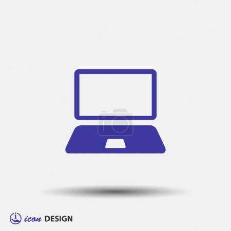 Illustration for Pictograph of computer icon illustration - Royalty Free Image