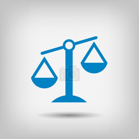 Illustration for Pictograph of justice scales icon illustration - Royalty Free Image