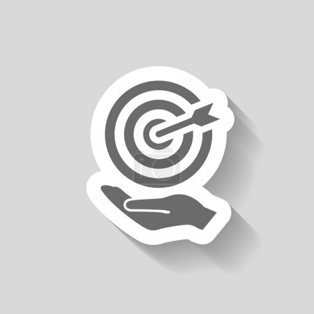 Pictograph of target icon