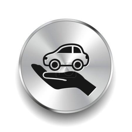 Illustration pour Vecteur Pictogramme de l'icône de la voiture - image libre de droit