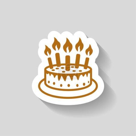 Illustration pour Vecteur Pictogramme de l'icône gâteau - image libre de droit