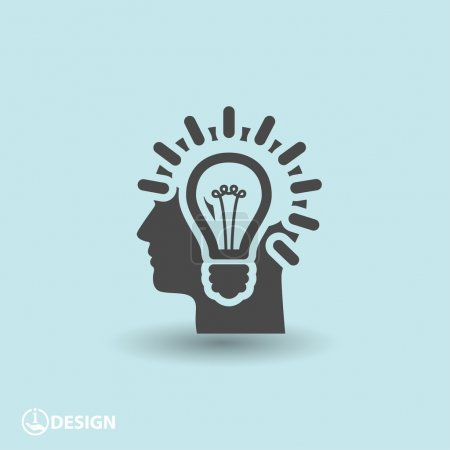 Illustration for Pictograph of bulb concept icon illustration - Royalty Free Image