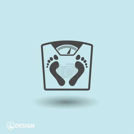Illustration for Pictograph of bathroom scale with footprints icon illustration - Royalty Free Image