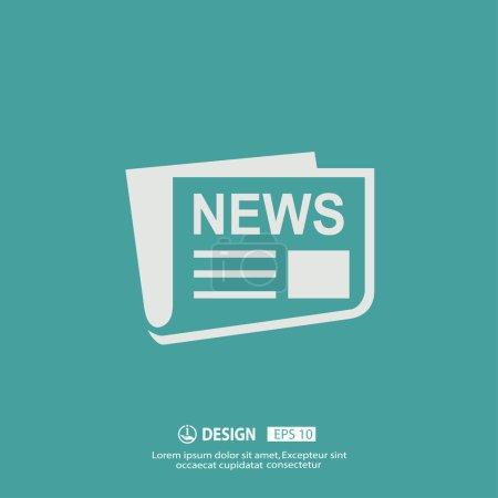Illustration pour Vector icon News desing - image libre de droit