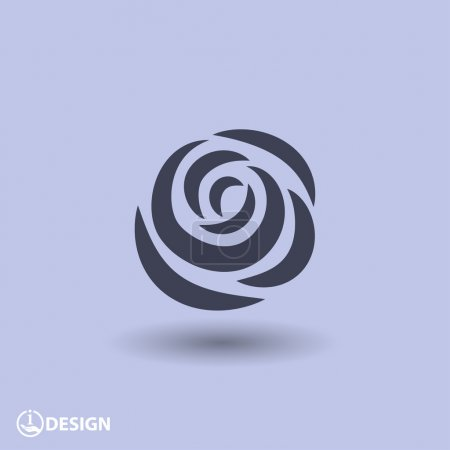 Illustration for Vector Pictograph of rose icon - Royalty Free Image