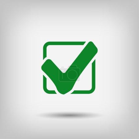 Pictograph of check mark icon