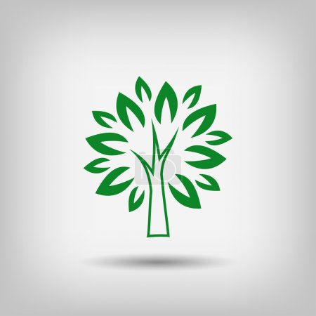 Illustration for Pictograph of tree icon illustration - Royalty Free Image