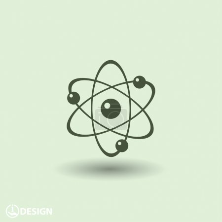 Illustration for Pictograph of atom vector icon - Royalty Free Image