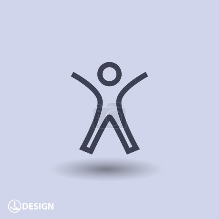 Illustration for Pictograph of success people icon - Royalty Free Image