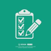 Ikona ikony kontrolního seznamu