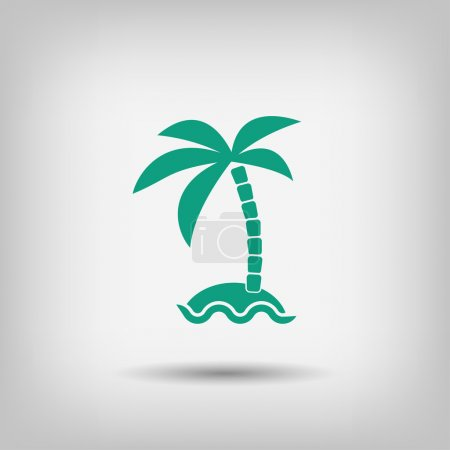 Illustration for Vector Pictograph of island icon - Royalty Free Image