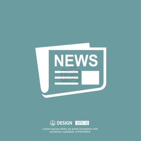 Illustration pour Icône de vecteur Daily News - image libre de droit