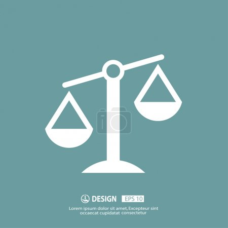 Illustration for Vector Pictograph of justice scales - Royalty Free Image