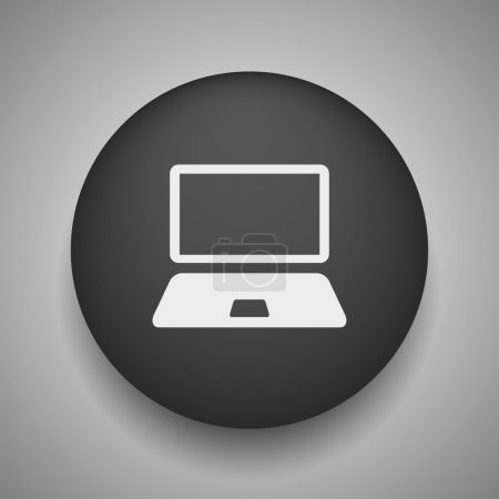 Illustration for Vector Pictograph of computer icon - Royalty Free Image