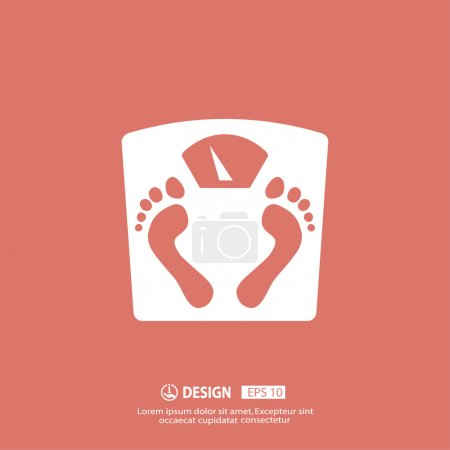 Illustration for Pictograph of bathroom scale vector icon - Royalty Free Image
