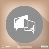 Plochý design ikona zprávy nebo chat