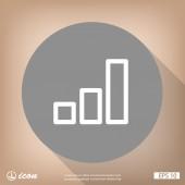 Plochý design ikona grafu