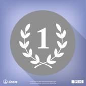 Vavřínový věnec plochý design ikony
