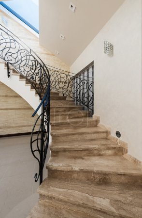 Photo for Stone Staircase in modern interior - Royalty Free Image