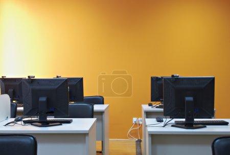 Computer classroom interior