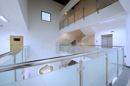 Modern staircase a in office building