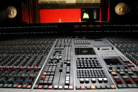 Photo for Professional music studio and control panel - Royalty Free Image