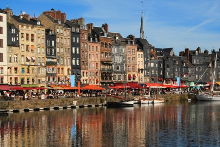 Old port of Honfleur, France