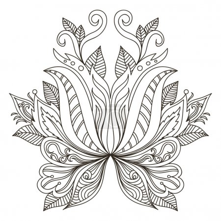 Ornamental element. Mehndi elements.