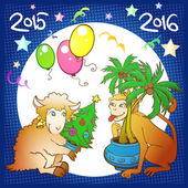 Illustration symbolizing the transition to the new year on the C