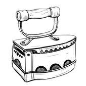 Vektorové ilustrace retro železa v Náhled stylu