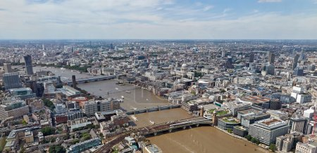 Aerial view of London city