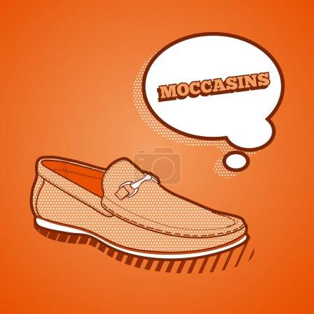 Fashionable shoes. Vector illustration...