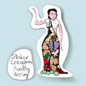 Samolepka Design pro zdravé stravování - vegetariánské Girl