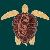 Caretta-caretta turtle with high details