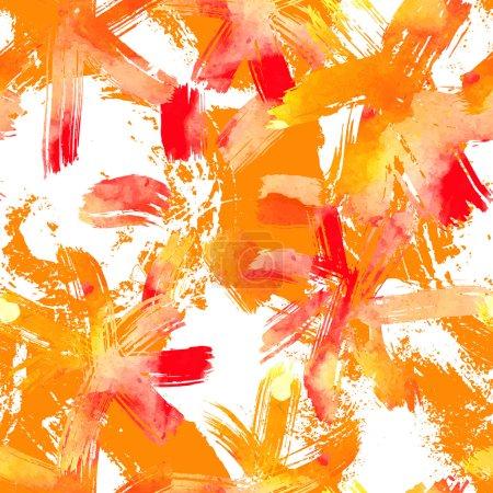 Illustration pour Modèle sans couture avec des fleurs d'aquarelle. Des coups de peinture bâclés. Design inhabituel pour votre textile, emballage ou web . - image libre de droit
