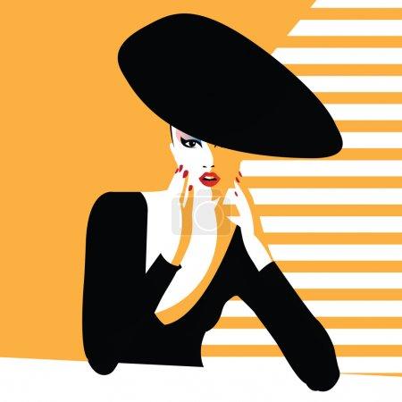 Illustration pour Mode adolescente en style pop art. Illustration vectorielle - image libre de droit