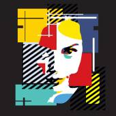 Fashion girl Modern illustration Cubism
