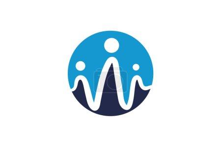 Illustration pour Modèle de conception de logo d'impulsion ronde, conception d'élément, conception vectorielle - image libre de droit