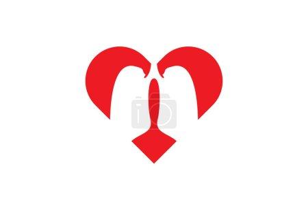 Illustration for Lung Love Logo Design Template, Element Design, Vector Design - Royalty Free Image