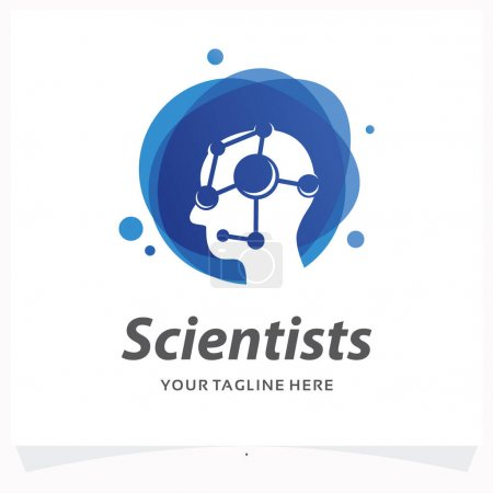 Illustration for Scientists Logo Design Template - Royalty Free Image