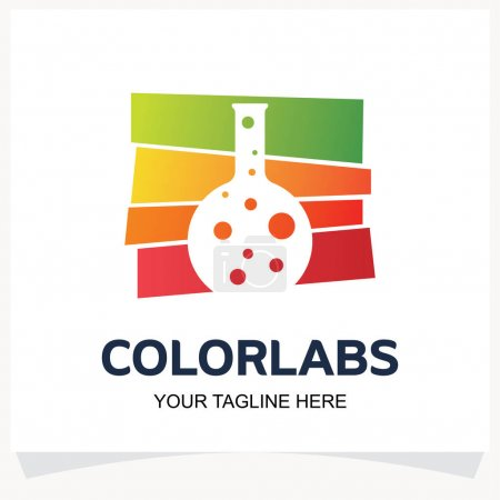 Illustration for Color Labs Logo Design Template Inspiration with White background - Royalty Free Image