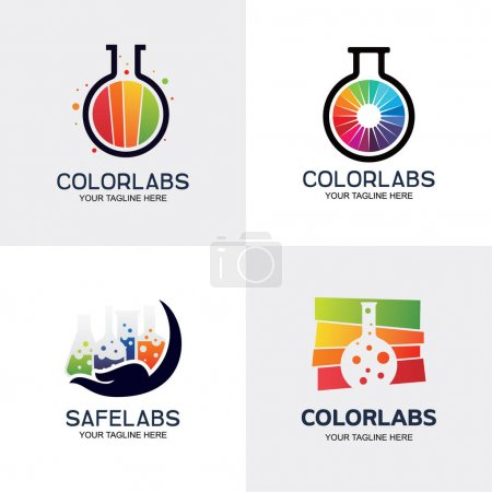 Illustration for Color Labs Logo Set Design Template Collection - Royalty Free Image