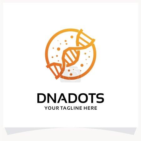 Illustration pour Modèle de conception de logo à points ADN Inspirations - image libre de droit