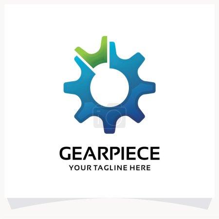 Illustration pour Modèle de conception de logo de pièce d'engrenage Inspirations avec fond blanc - image libre de droit