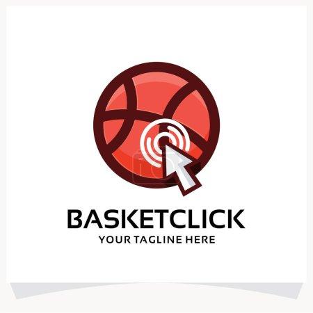 Illustration pour Modèle de conception de logo Sport Click Basketball Inspirations avec fond blanc - image libre de droit