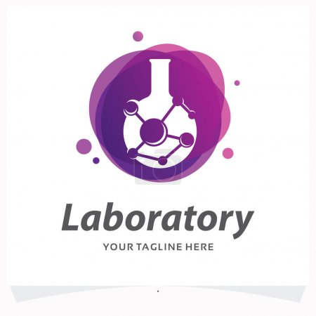 Illustration for Laboratory Logo Design Template with White Background - Royalty Free Image